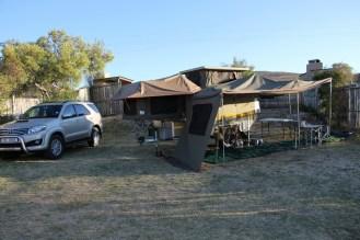 Campsite a bit wind swept