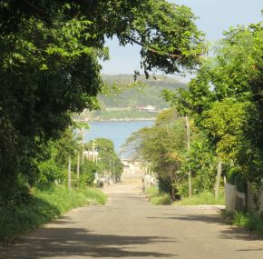 Browns Town road looking at Discovery Bay
