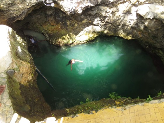 Sally in the Blue Hole Mineral Spring