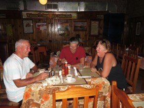 Salt fish and ackee breakfast with Bruce and Patti