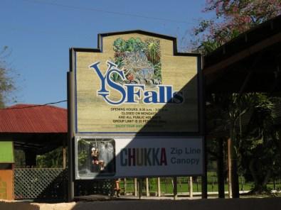 YS Falls sign