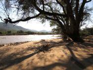Epupa Falls river bank