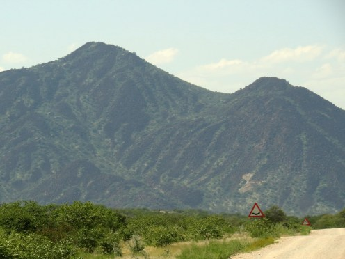 Scenery Zebra-like Mountains