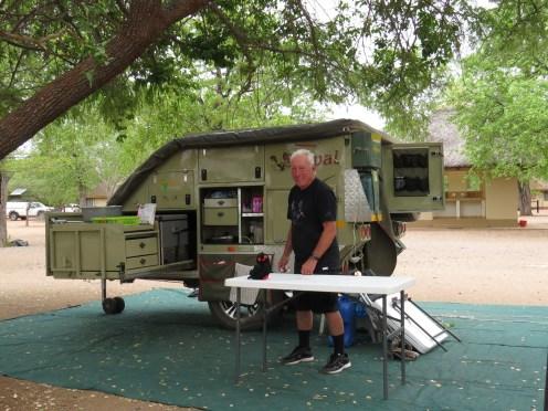 Setting up Shingwedzi Campsite with Rocky