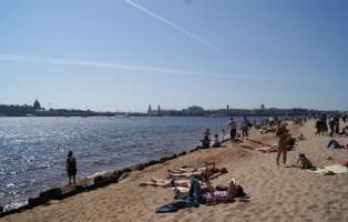 Beach in St Petersburg
