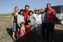 Mokott family with guests.