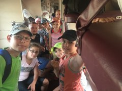 Young swimmers heading for Baikal.
