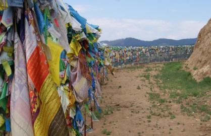Prayer flags at Rinpoche Bagsha Datsan.