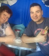 Trans-Siberian encounter with Evgeniy and a kind, quiet woman who may have been called Lana.