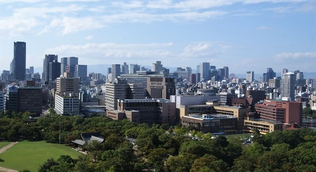 View from Osaka Castle.