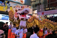 Dragon dance. But the dragons are quick.