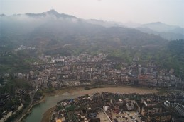 A grey day in Zhenyuan.