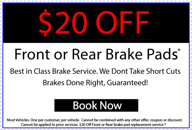 Get $20 off your brake service.