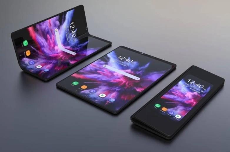 blu foldable phone release