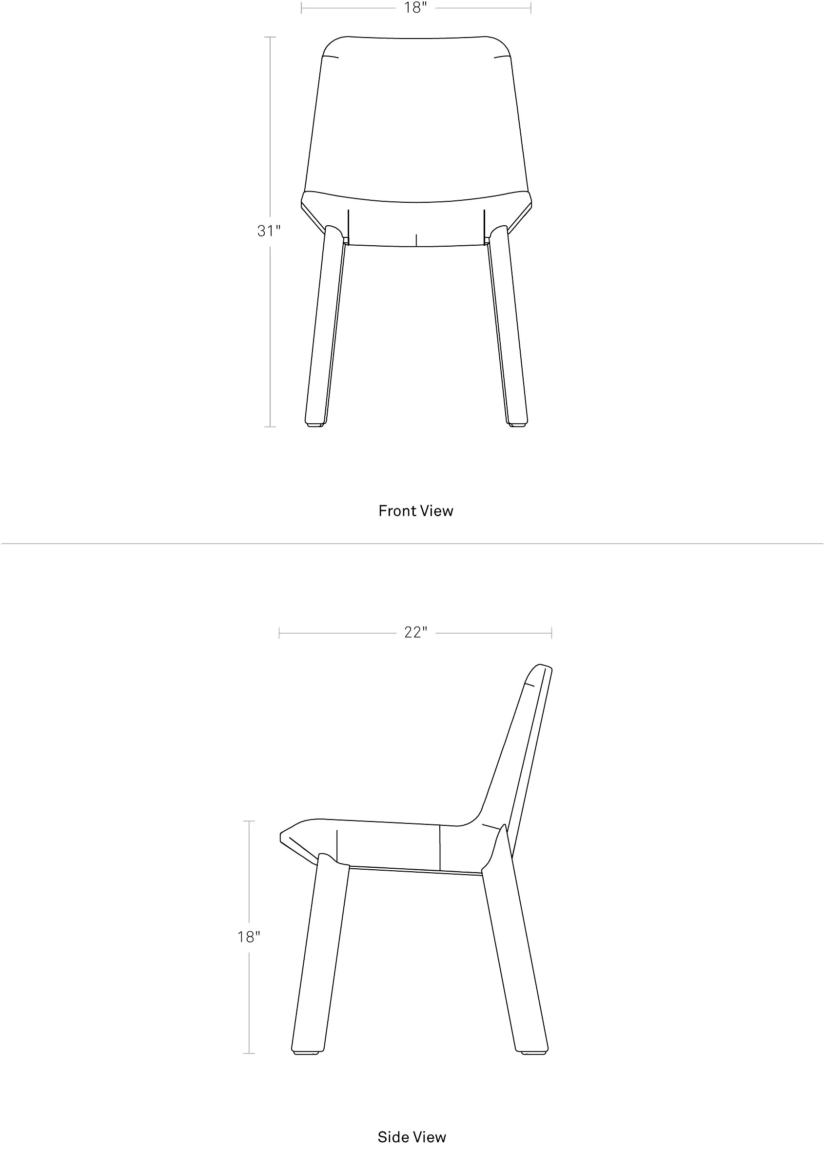 Dining Chair Dimensions Neat Dining Chair
