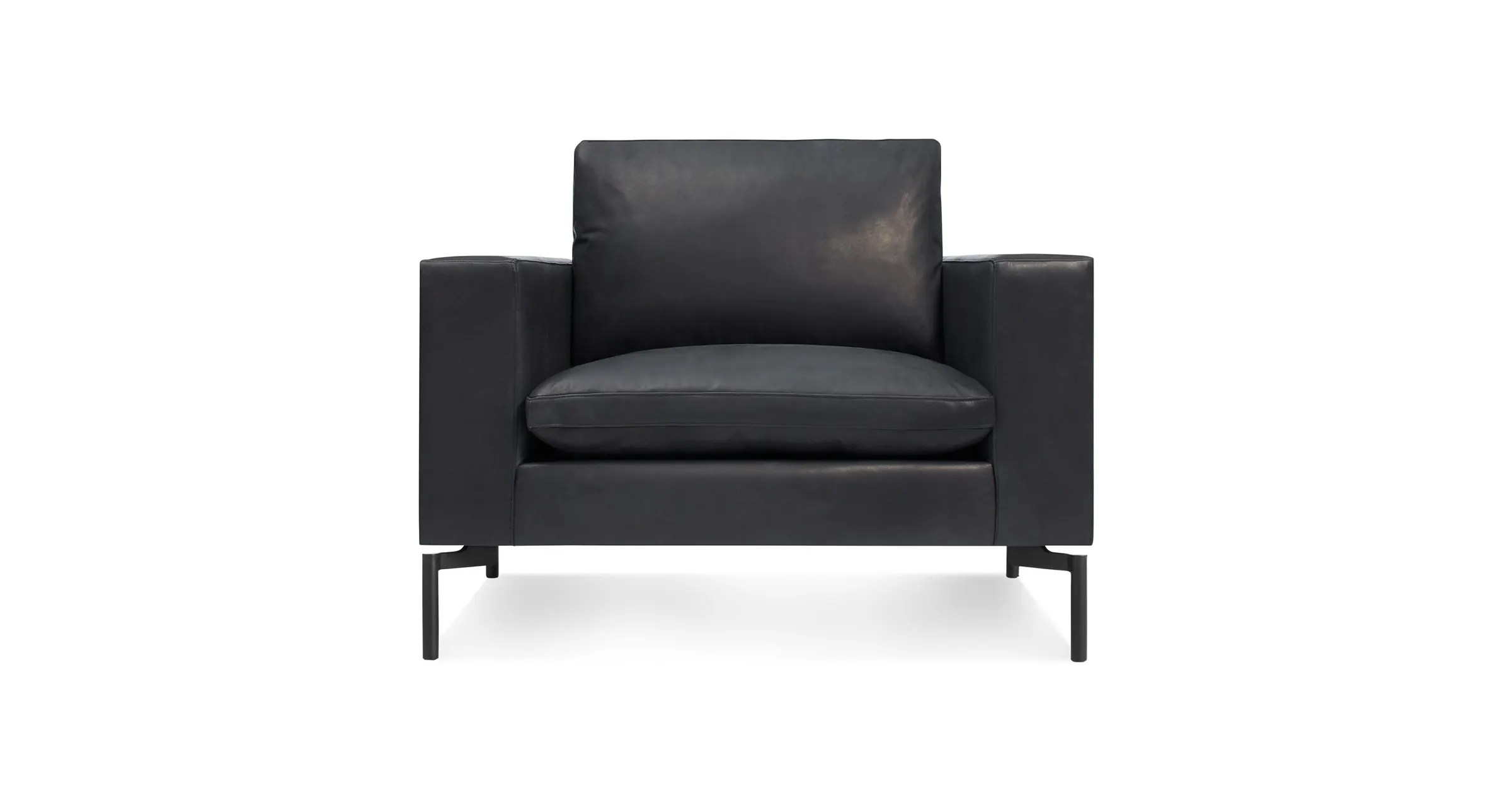 Black Leather Lounge Chair New Standard Leather Lounge Chair