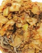 キムチと納豆でお蕎麦を食べる!