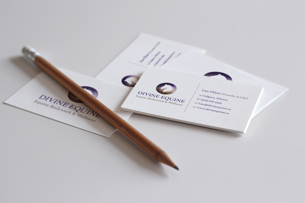 Divine Equine - Business Card Design