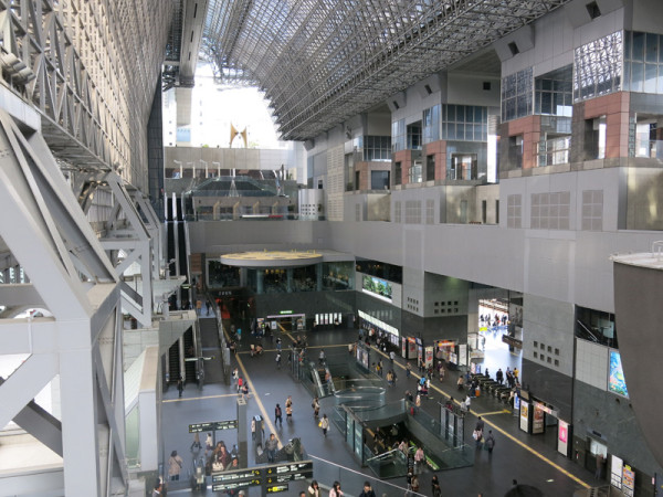 Central exit of Kyoto station. (C) JP Rail