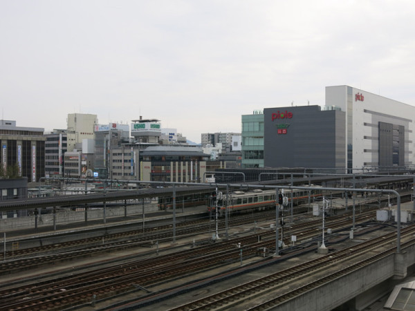 Conventional lines platforms #1 (left) to #8 (right)