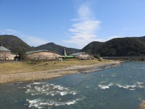 Nijinomori Park is located beside Hiromi river.