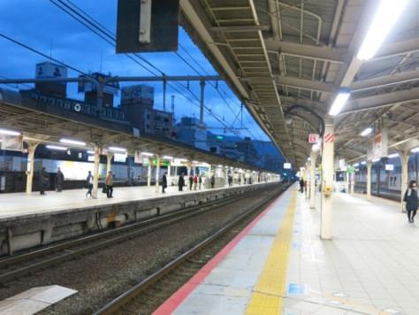 JR Sannomiya station platform