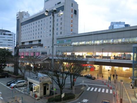 Port Liner Sannomiya station.  JR Sannomiya station is just behind this station.