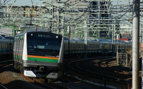 JR East Rapid train of Ueno Tokyo line and Shonan Shinjuku line
