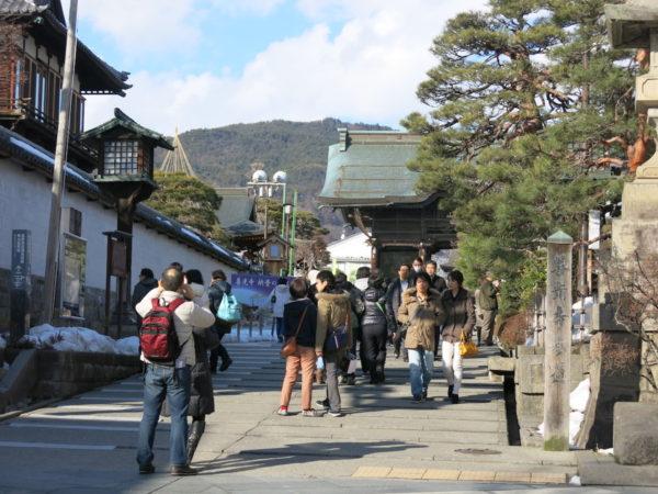 The gate of Zenko-ji temple
