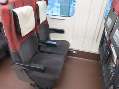 Even ordinary seat equip a power outlet on Hokuriku Shinkansen.