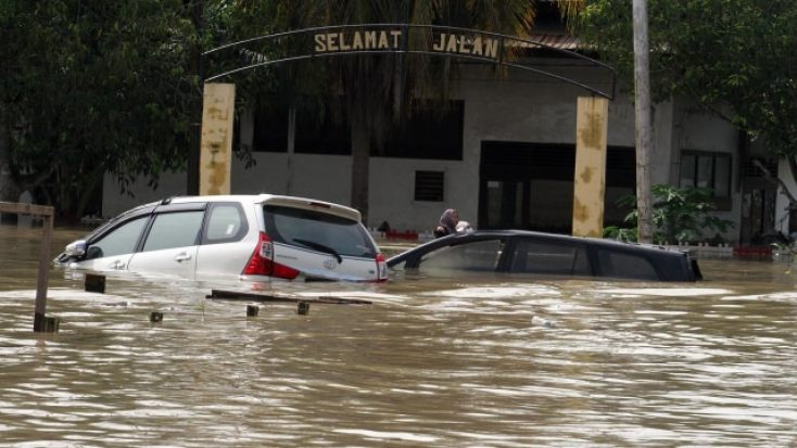 Banjir akibat Siklon di Aceh Utara