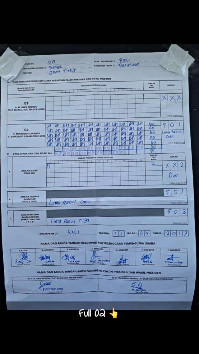 Form C1 Pemilu 2019 : pemilu, KawalPemilu, Klarifikasi, Dugaan, Janggal, Terkait, Pasuruan, Kumparan.com