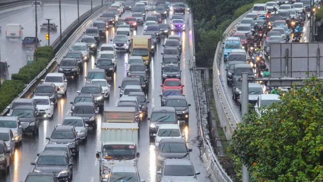Kemacetan Lalulintas di Jakarta saat PSBB