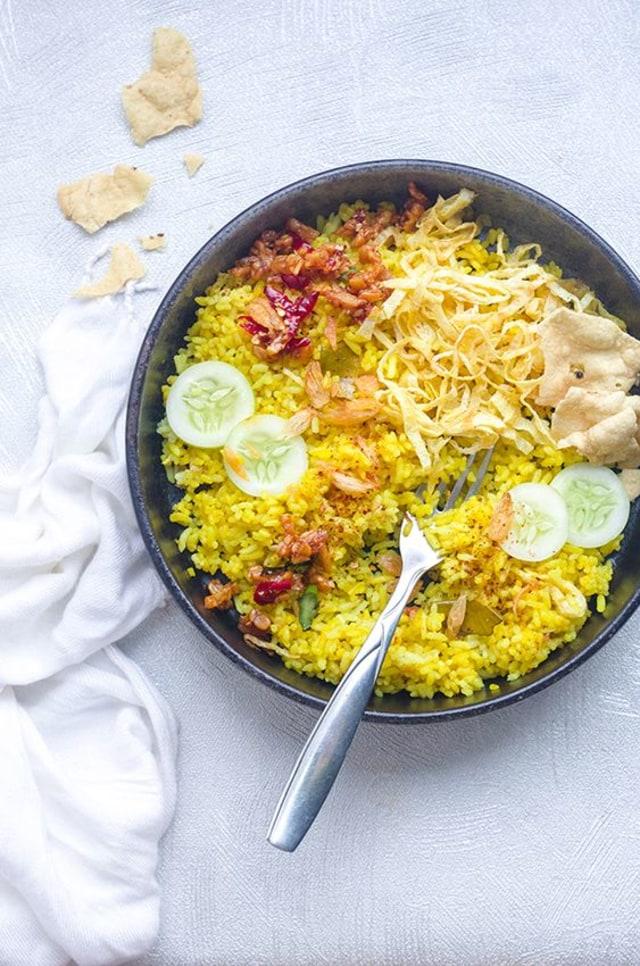 Cara Membuat Nasi Kuning Dengan Magic Com : membuat, kuning, dengan, magic, Resep, Kuning, Praktis, Mudah,, Cukup, Masak, Pakai, Magic, Kumparan.com