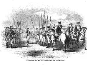 Surrender of British Standads at Yorktown