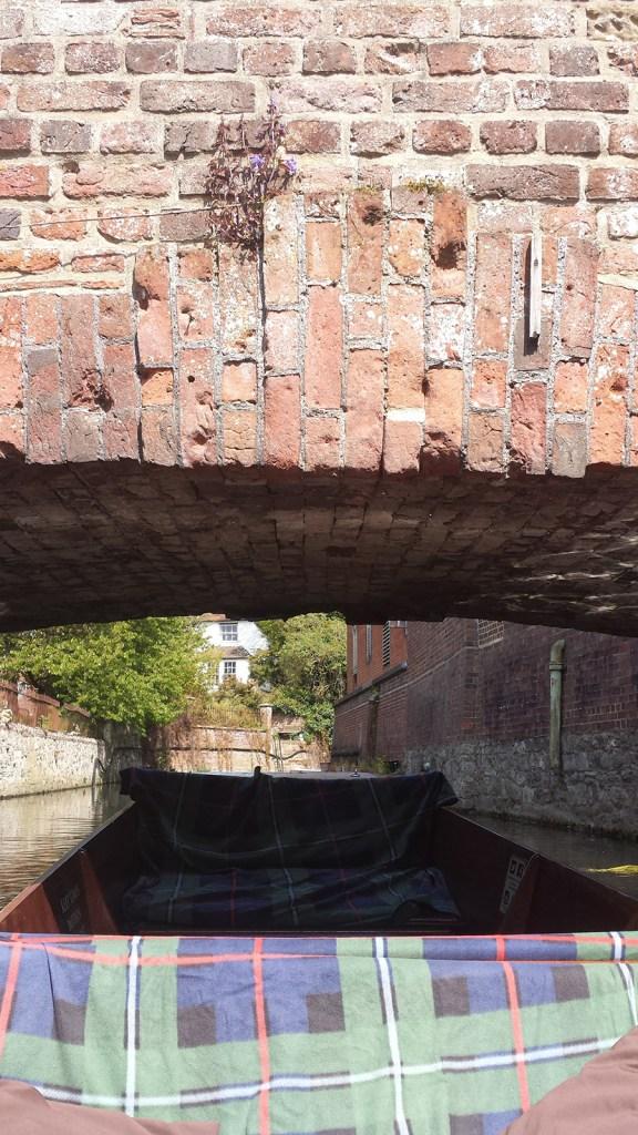 Punt Going Under Bridge