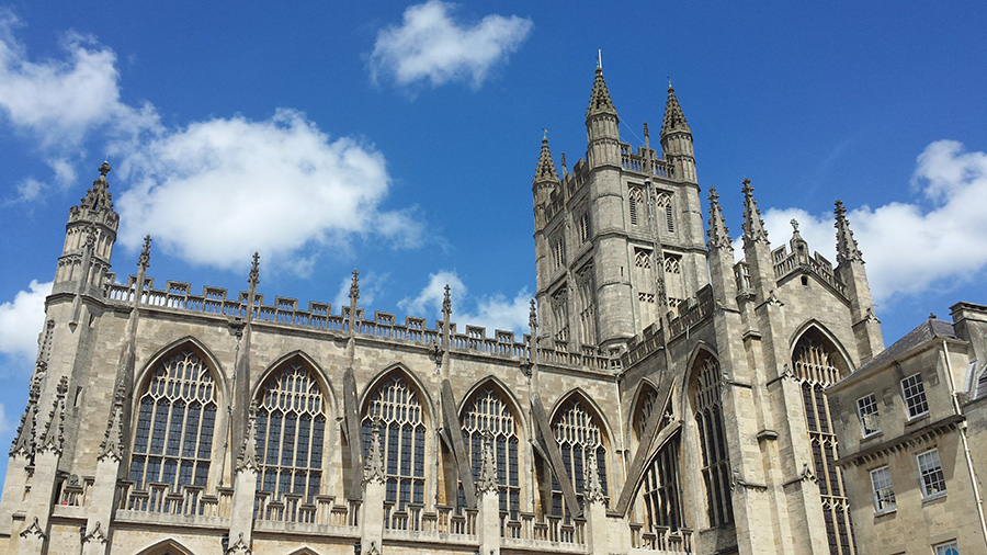 Bath Abbey with towers