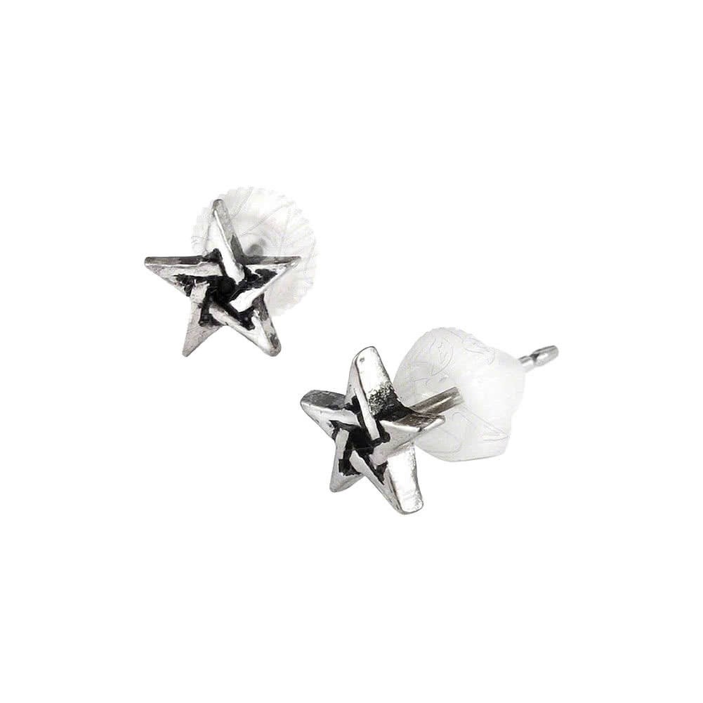 Alchemy Gothic Pentagram earrings  gothic earrings