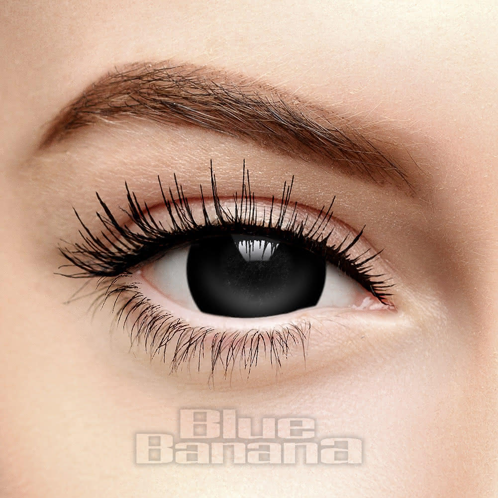 Mini Sclera Halloween 1 Day Black Coloured Contact Lenses Coloured Contacts Uk