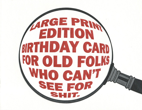 Large Print Edition Birthday