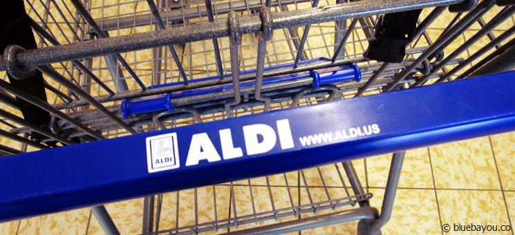 Ein US-amerikanischer Aldi-Einkaufswagen.