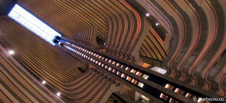 Blick aus der Lobby des Marriott Marquis Hotels Atlanta - Drehort der Hunger Games.