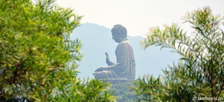 Der Tian Tan Buddha in Hongkong.