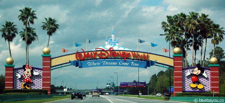 Herzlich Willkommen auf dem riesigen Walt Disney World Gelände in Orlando.
