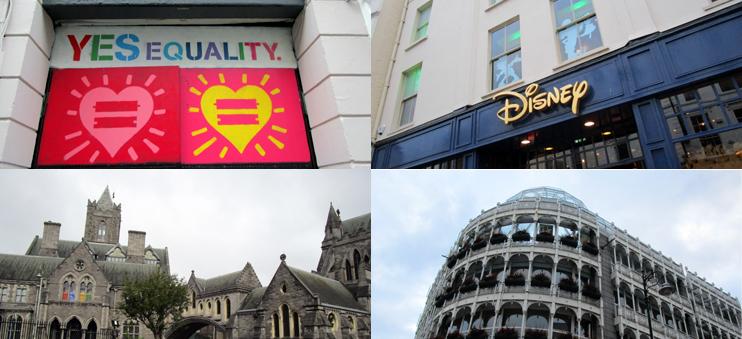 Impressionen aus Dublin: Die Wahl zur Homo-Ehe, der Disney Store und Architektur.