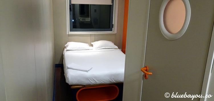 Das Zimmer im easyHotel in Sofia, Bulgarien.