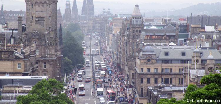 Blick auf Edinburgh, Schottland.