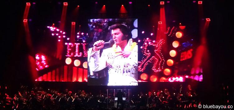 Elvis zusammen mit dem Czech National Symphony Orchestra.
