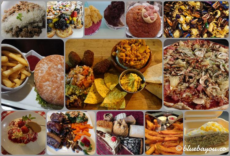 Fotoparade Collage Essen 2: Auch wenn es auf den Fotos anders wirkt, lebte ich mehrheitlich sehr gesund.