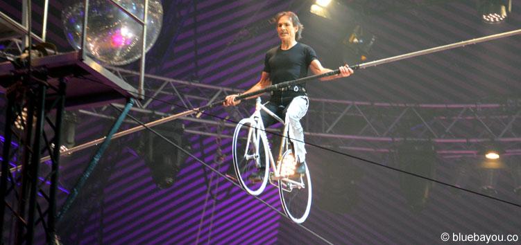 Auch Hochseilartist Freddy Nock erzählte den Artistenschülern vom Zirkusleben.